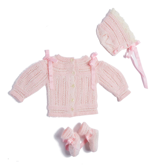 Pink Knitted Special Occasion Set with Angora - Knitwear - PEPA AND CO