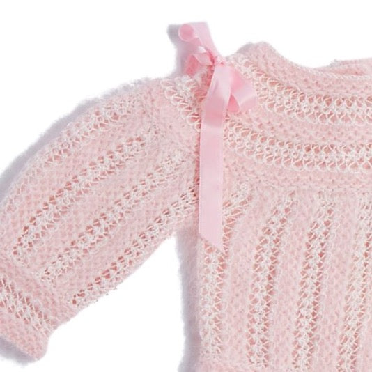 Pink Knitted Special Occasion Set with Angora - KNITTED - PEPA AND CO