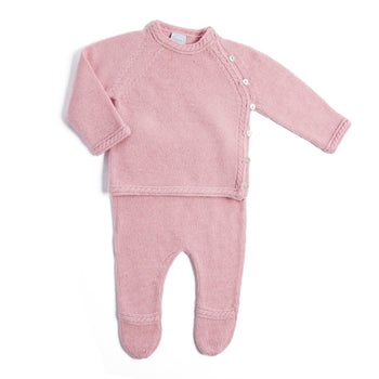 Pink Cashmere Set with Jumper and Trousers - Set - PEPA AND CO