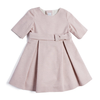 Pink Jacquard Special Occasion Dress - Dress - PEPA AND CO