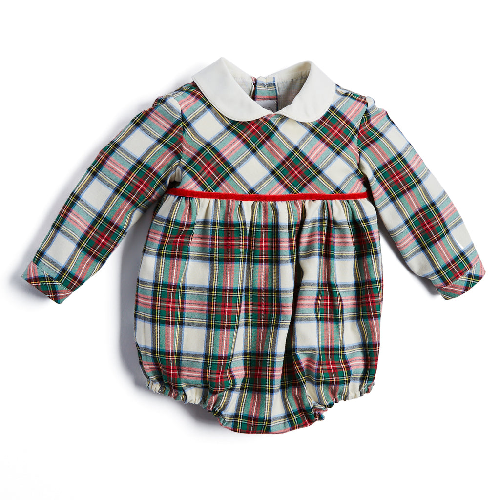 Classic Tartan Check Romper - ROMPER - PEPA AND CO