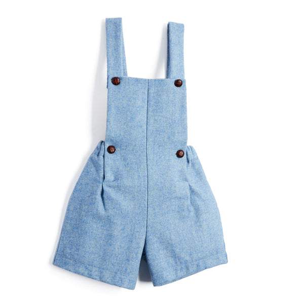 Blue Wool Blend Dungarees - DUNGAREE - PEPA AND CO