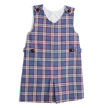 Classic Blue Checked Dungarees - DUNGAREE - PEPA AND CO