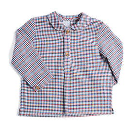Blue and Red Checked Cotton Shirt - SHIRT - PEPA AND CO