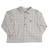 Multicoloured Checked Long-Sleeved Shirt - SHIRT - PEPA AND CO