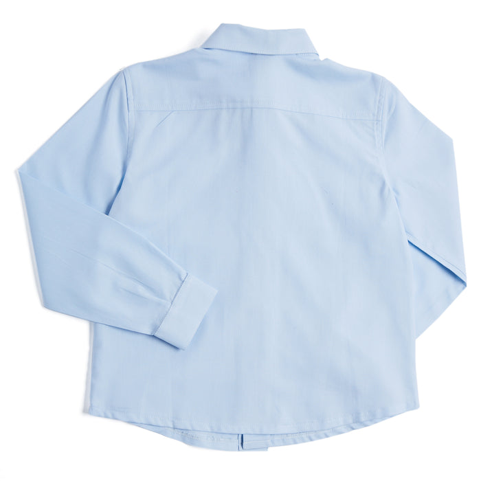 Classic Blue Cotton Oxford Shirt - SHIRT - PEPA AND CO