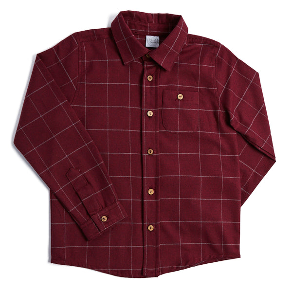 Classic Burgundy Checked Shirt - SHIRT - PEPA AND CO