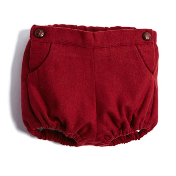 Burgundy Wool Blend Bloomers - BLOOMER - PEPA AND CO