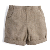 Baby Boys Classic Brown Shorts - SHORT - PEPA AND CO