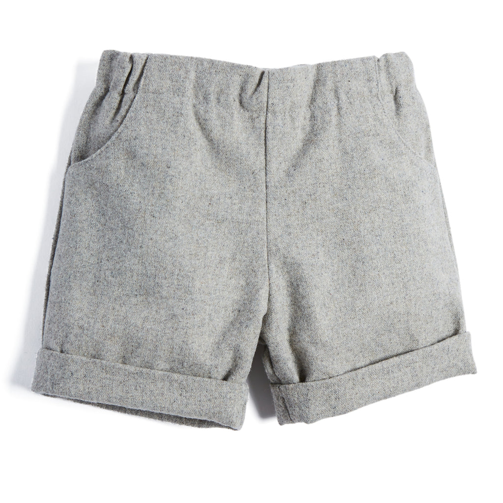 Baby Boys Classic Grey Wool Shorts - SHORT - PEPA AND CO