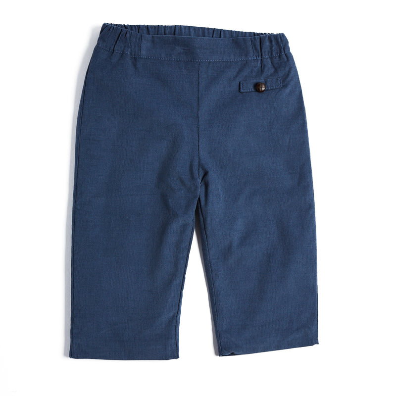 Classic Blue Corduroy Trousers - TROUSER - PEPA AND CO