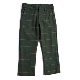 Classic Green Checked Flannel Trousers - TROUSER - PEPA AND CO