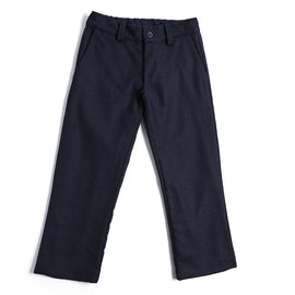 Classic Navy Flannel Trousers - TROUSER - PEPA AND CO