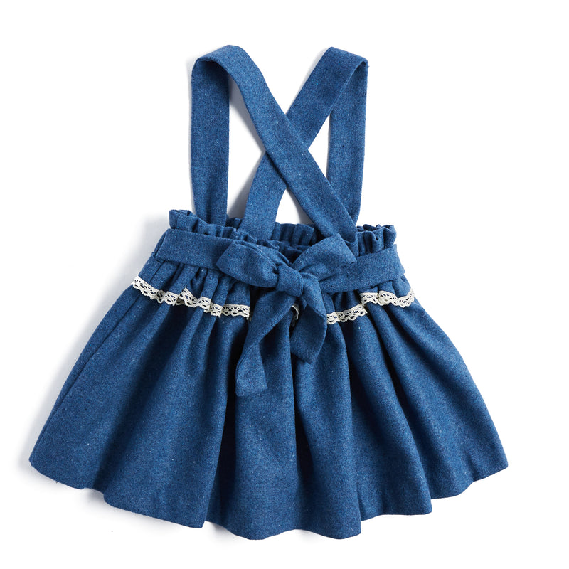 Blue Skirt with Braces - SKIRT - PEPA AND CO