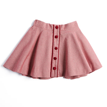 Red Wool Skirt - SKIRT - PEPA AND CO