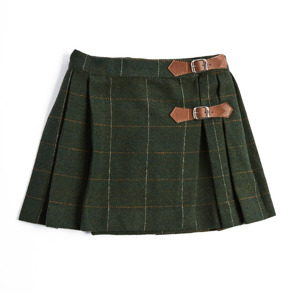 Green Tartan Kilt - SKIRT - PEPA AND CO