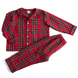 Boys Red Tartan Check Pyjamas - NIGHTWEAR - PEPA AND CO