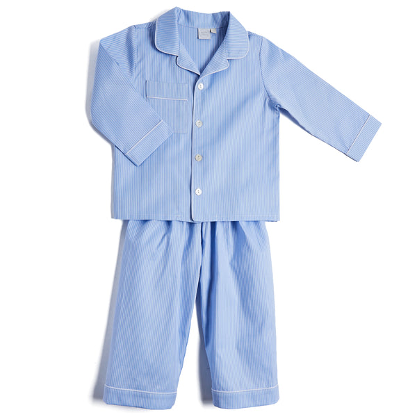 Boys Classic Blue Striped Pyjamas - NIGHTWEAR - PEPA AND CO