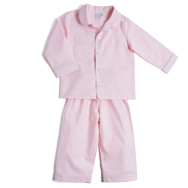 Girls Classic Pink Striped Pyjamas - NIGHTWEAR - PEPA AND CO