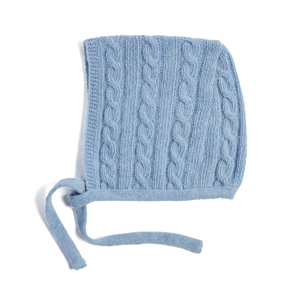 Blue Cashmere Knitted Bonnet - KNITTED ACC - PEPA AND CO