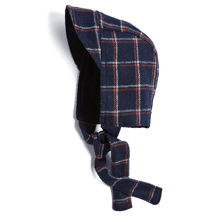 Traditional Navy Checked Hood - BONNET - PEPA AND CO