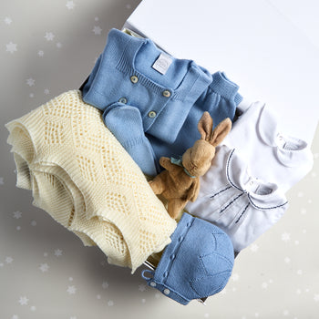 Blue Knitted Wool 6 Piece Gift Set - GIFT SET - PEPA AND CO