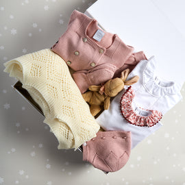 Pink Knitted Wool 6 Piece Gift Set - GIFT SET - PEPA AND CO