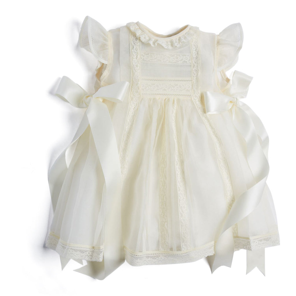 Traditional Cream Christening Gown - CHRISTENING GOWN - PEPA AND CO