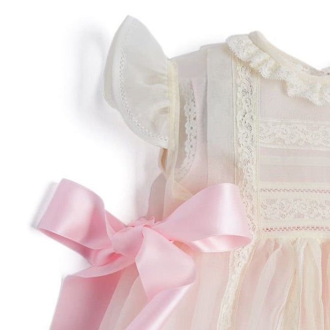 Traditional Light Pink Christening Gown - CHRISTENING GOWN - PEPA AND CO