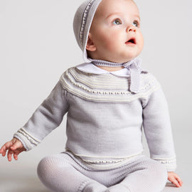 Delicate Grey Striped Cotton Set - Set - PEPA AND CO