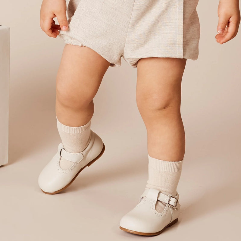 Cotton Short Socks Beige - Socks - PEPA AND CO