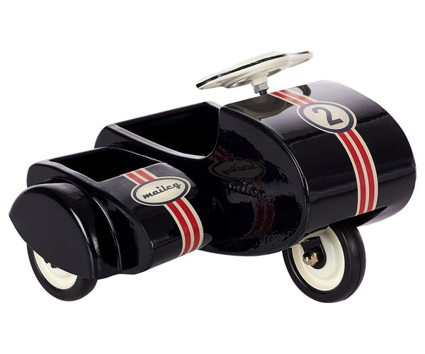 Black Scooter with Side Metal Car - Toy - PEPA AND CO