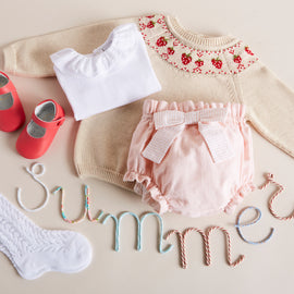 Pink Cotton Bloomers with Bow - Bloomer - PEPA AND CO