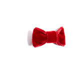 Velvet Red Small Bow Clip - HAIR ACCESSORIES - PEPA AND CO