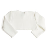 Girls Cropped Celebration Cardigan Ivory - Cardigan - PEPA AND CO