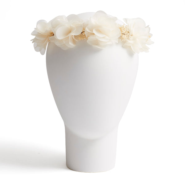 Floral crown in cream - Hair Accessories - PEPA AND CO