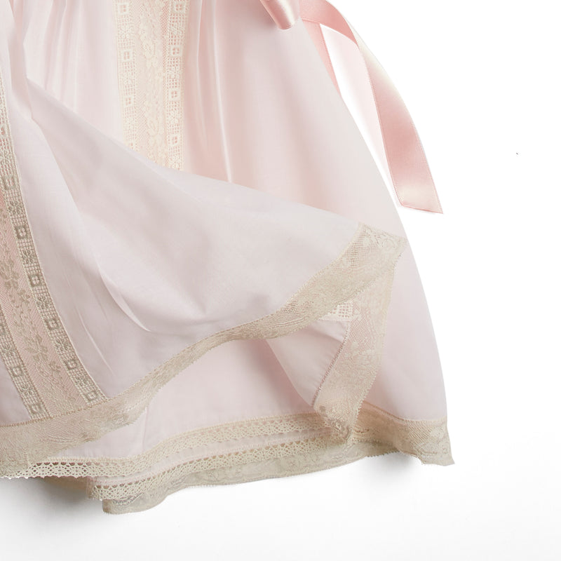 bd1424c2037 Organic Cotton Traditional Dress With Antique Lace in Pink – PEPA AND CO