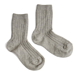 Ribbed Shorts Socks Grey - Socks - PEPA AND CO