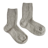 Ribbed Shorts Socks - Grey - Socks - PEPA AND CO