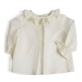 Classic Newborn Blouse with Lace Details - Top - PEPA AND CO