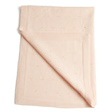 Traditional Cotton Knitted Baby Blanket Pink