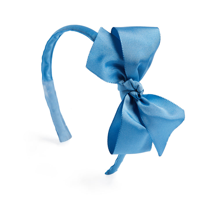 Blue Big Bow Hairband - Hair Accessories - PEPA AND CO