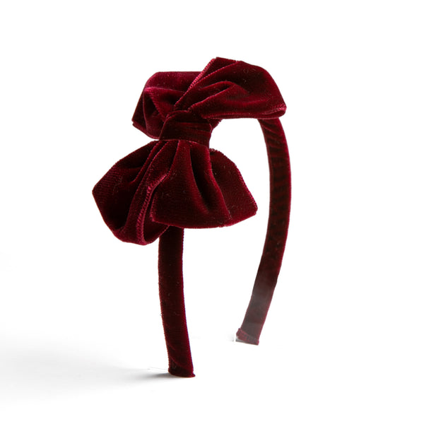 Velvet Burgundy Hairband - HAIR ACCESSORIES - PEPA AND CO