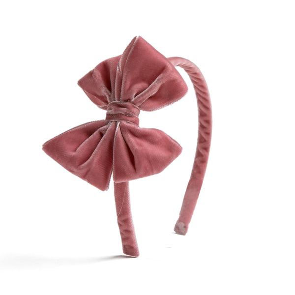 Velvet Pink Hairband - HAIR ACCESSORIES - PEPA AND CO