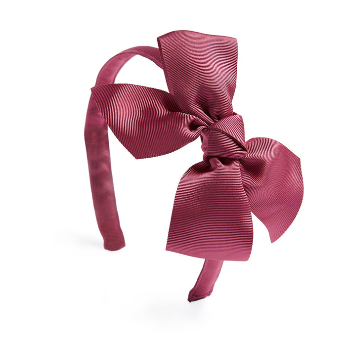 Raspberry Pink Big Bow Hairband - Hair Accessories - PEPA AND CO