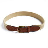 Beige and Ivory Striped Belt - Belt & Braces - PEPA AND CO