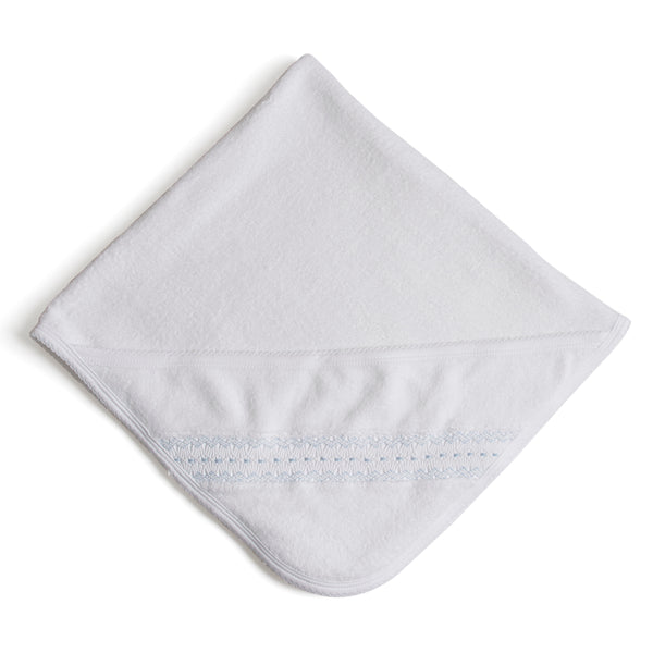 Off-White Towel with blue embroideries - Towel - PEPA AND CO