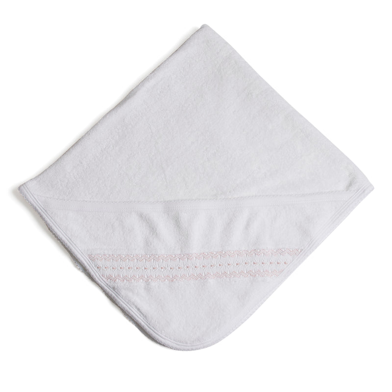 Off-White Towel with Pink embroideries - Towel - PEPA AND CO