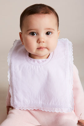 Pink Striped Cotton Bib - ACCESSORIES - PEPA AND CO