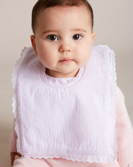 Delicate Pink Cotton Multipack Bibs - ACCESSORIES - PEPA AND CO